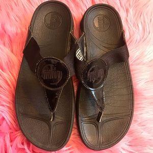 FitFlop Women's Thong Sandal Black